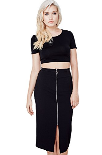 Women's Fashion Trendy Zip Up Classic Pencil Skirt USA (Plus Size) XS35 1XL