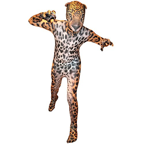Morphsuits Premium Jaguar Animal Planet, Brown/Black/Cream, X-Large (Brown Morphsuit)