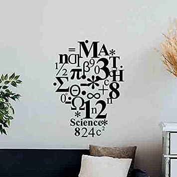 Math Wall Decal Sign Decal Classroom Mathematics Poster School Vinyl Sticker
