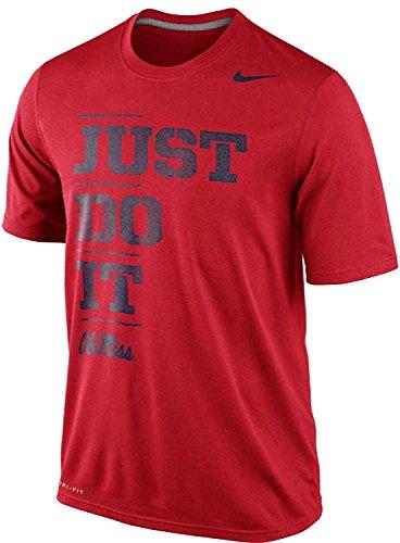 Nike Ole Miss Rebels Mississippi Just Do It Dri-FIT Legend Men's T-Shirt (XXL, Red)