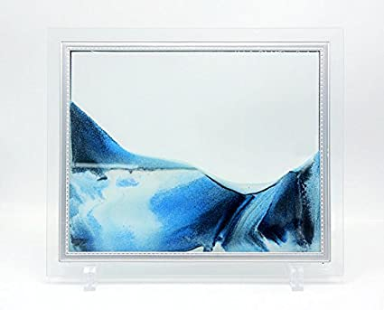 Amazon.com - Queenie® Flowing Sand Picture, Sand in Motion Abstract ...