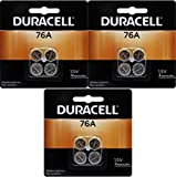 Duracell 76A LR44 Duralock 1.5V Button Cell Battery 12 Pack Exp. 2018 Or Better (Replaces: LR44, CR44, SR44, 357, SR44W, AG13, G13, A76, A-76, PX76, 675, 1166a, LR44H, V13GA, GP76A, L1154, RW82B, EPX76, SR44SW, 303, SR44, S303, S357, SP303, SR44SW) 'Duracell Brand Name Batteries'