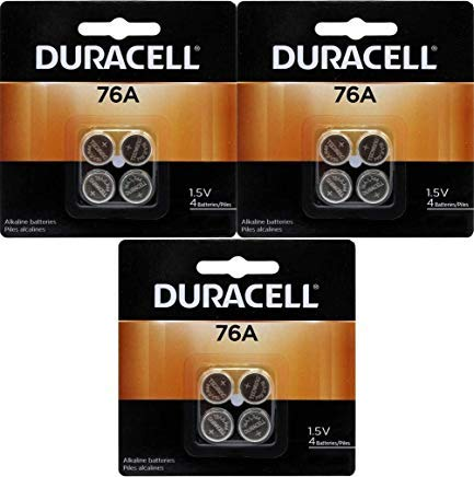 (Duracell 76A LR44 Duralock 1.5V Button Cell Battery 12 Pack Exp. 2018 Or Better (Replaces: LR44, CR44, SR44, 357, SR44W, AG13, G13, A76, A-76, PX76, 675, 1166a, LR44H, V13GA, GP76A, L1154, RW82B, EPX76, SR44SW, 303, SR44, S303, S357, SP303, SR44SW)