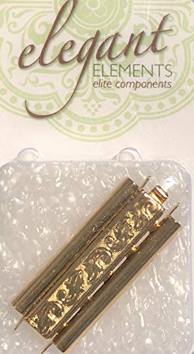 (Beadslide Clasp Gold Plated Swirl 29mm Long, 10mm Wide-Quality Made in Germany)