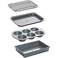 Chicago Metallic Non-Stick 4-Piece Toaster Oven Bakeware Set