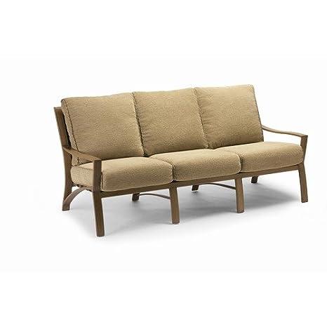 Amazon.com: Granville sofá con cojines martillado acabado ...
