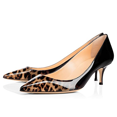 5cm Pointed Eldof Stiletto Women Shoes Leopard Pattern Python Snake Kitten Pumps Toe Classic 6 Court Heels 0Pr0wqf