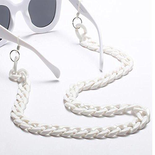 libre Hombres sol Para Cadena Blanco Ojo de Hzjundasi Vintage Cadena Gafas Mujeres de al anteojos gato Gafas Gafas moda aire de Antideslizante de wUT8qRA