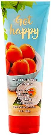 Bath and Body Works Get Happy White Peach Sangria Body Cream 8 Ounce