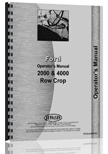 ford 2000 tractor operators manual 1962 1964 4 cyl only amazon rh amazon com 1969 ford 2000 tractor manual 1969 ford 2000 tractor manual
