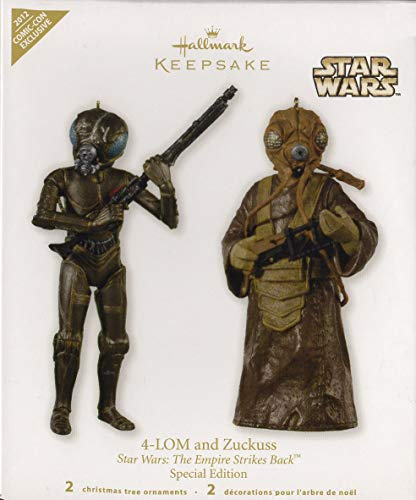 SDCC San Diego Comic Con Hallmark 2012 Exclusive Star Wars 4 LOM and Zuckuss Ornament Limited to 1000 ()