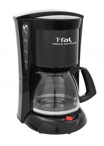 T-fal CM2208MX Cafetera Heliora Comfort, 10-15 Tazas, Color Negro