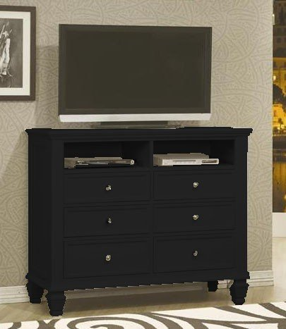 Coaster Home Furnishings Country Media Chest, (Pottery Black Dresser)