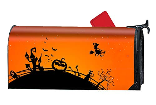 Holiday Halloween Witch Black Silhouette Mailbox Makeover Decorative