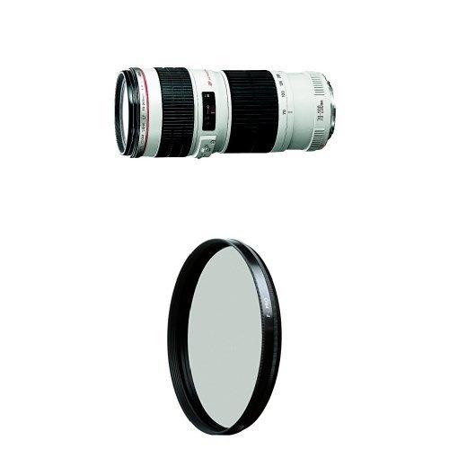Canon EF 70-200mm f/4 L IS USM Lens for Canon Digital SLR Cameras w/ B+W 67mm HTC Kaesemann Circular Polarizer