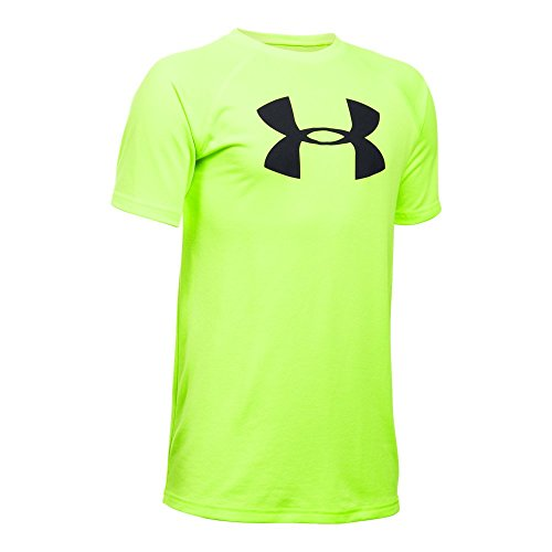 Under Armour Boys' Tech Big Logo Short Sleeve T-Shirt, Fuel Green/Black, Youth Small