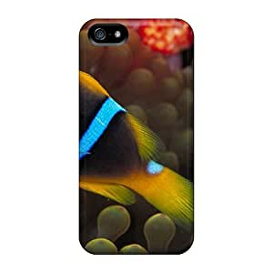 Welchmoibe1999 VeR29996SvKc Cases For Iphone 5/5s With Nice Gold Spine Cheeked Clownfish Appearance