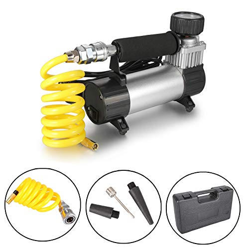 Dromedary Portable Electric Auto Car Tire Inflator Pump Compressor Air Inflator Pump with Storage Box 12v 35L/Min