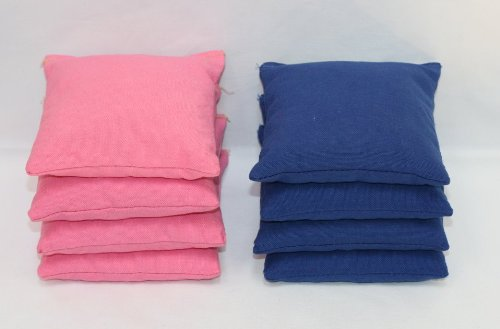 Free Donkey Sports Cornhole Bags (Pack of 8), Royal Blue/Pink, Regular -