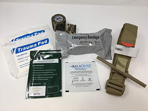 Hemorrhage Control IFAK - Trauma Pack with Tourniquet + Combat Bandage + Trauma Dressing + Chest Seal (Best Sellers)