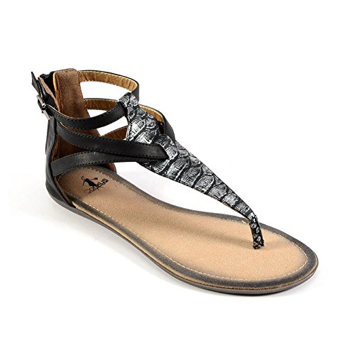 New Corkys Fisherman Silver 8 Womens Sandals DKobvIR