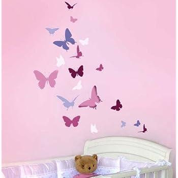 Wall stencil Butterfly Dance - Easy Wall Stencil for Nursery Decor ...