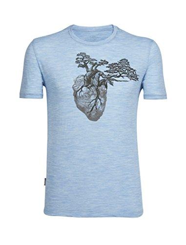 Icebreaker Merino Men's Tech Lite Short Sleeve Crewe tee Rock Heart graphic
