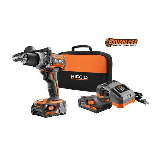 Ridgid ZRR86116K 18-Volt Lithium-Ion 1/2 in. Cordless Brushless Compact Hammer Drill Kit (Certified Refurbished)