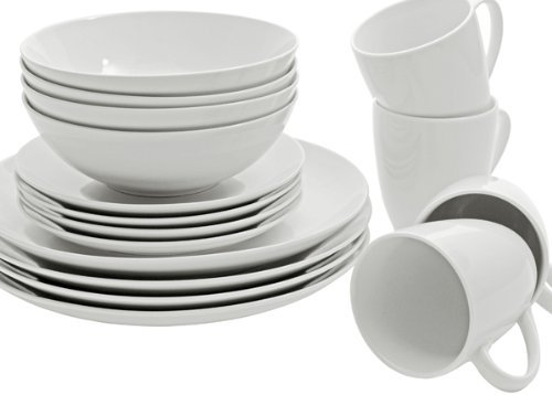 10 Strawberry Street Simply 16 Piece Coupe Dinnerware Set, W