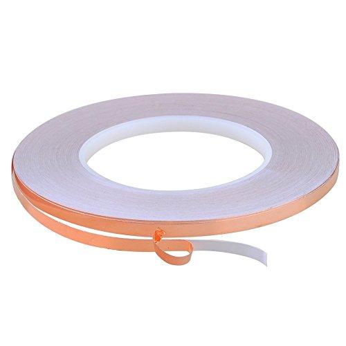 1//4 inch x 55 yds Copper Foil Tape 6mm x 50m EMI Shielding Conductive Adhesive