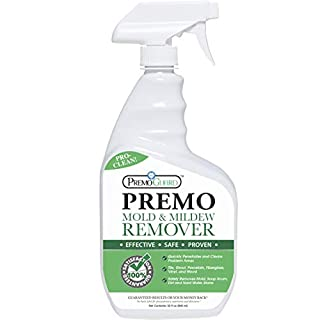 Mold & Mildew Remover - Professional Spray Cleaner & Stain Eliminator – Natural Product – Safely Removes Dirt, Moss & Algae – Kitchen/Bathroom/Shower/Tile/Grout/Vinyl Siding/Wood Decking/Boat – 32 oz