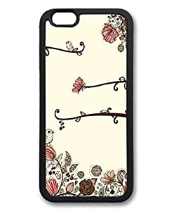 iPhone 6 Plus Case, iCustomonline Hand Drawn Flower Vector Back Case Cover for iPhone 6 Plus (5.5 inch) by runtopwell