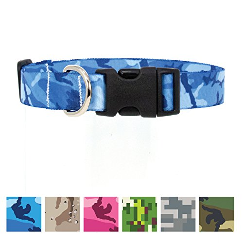Buttonsmith Blue Camo Collar M Narrow