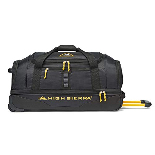 High Sierra Pathway 28-Inch Wheeled Drop-Bottom Duffel - Extra-large Rolling Duffel Bag with Wheels - Men
