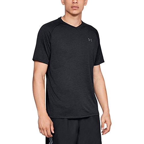 - Under Armour mens Tech 2.0 V-Neck Short Sleeve T-Shirt, Black (001)/Graphite, X-Large