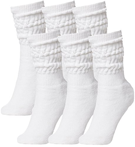 BRUBAKER Womens Or Mens Fitness Workout Slouch Gym Socks White 6 Pack EU39-42 / US6.5-10]()