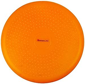 "Isokinetics Inc. Balance Disc - 14"" Round - Inflatable Stability Cushion for Therapy, Exercise, Core Training, Seats - Neon Orange"