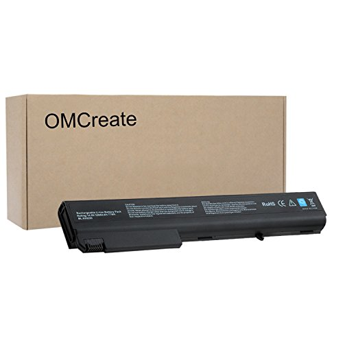 OMCreate 8-Cell Battery for HP Compaq NC8430 NC8230 NX9420 NX7400 NW8440 NW9440 8510W 8510P 8710W - 12 Months Warranty