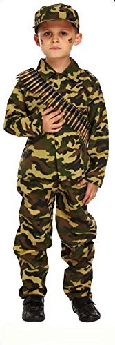 Henbrandt Child Army Military Camouflage Fancy Dress Costume (7-9 Years) ()