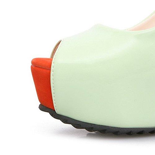 Des Solides Sandales De Traction Femmes Des Sur Hauts Peep Talons Agoolar Vertclair Toe Pu 5xn7qCZA