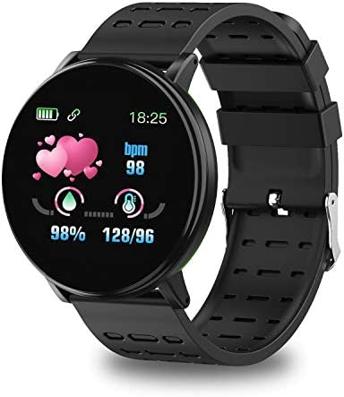 Smart Watch,Fitness Tracker with Heart Rate Blood Pressure Monitor, Waterproof Watch with Sleep Monitor,IP67 Waterproof,Smart Fashion Watch for Men and Women