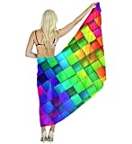 Women Scarf Large Colorful Cubic Shawl Wraps for Evening Dress, Wedding Party