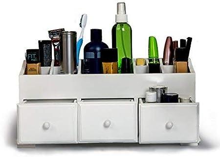 Cajón de tocador belleza organizador 3 cajones – blanco de madera ...