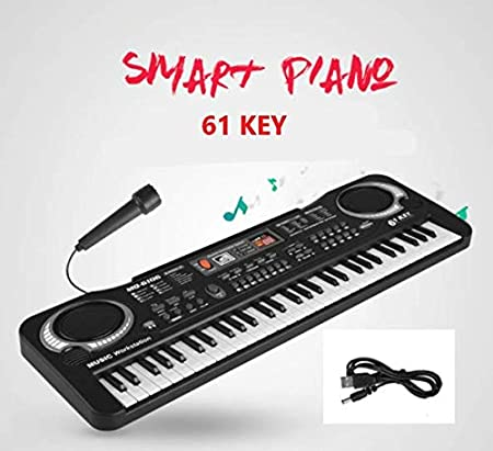 【USB Recargable】Piano Infantil, XYEU 61 Teclas Piano ...