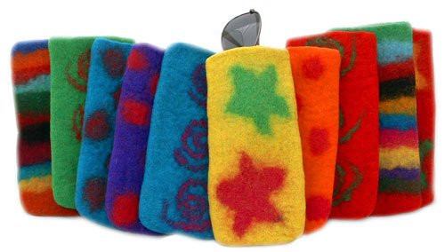 Felted Sunglasses, Reading Glasses Case  or Cell Phone Holde
