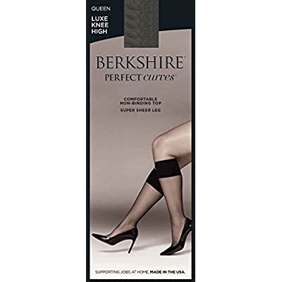 Berkshire Women's Plus-Size Queen Perfect Curves Luxe Knee High