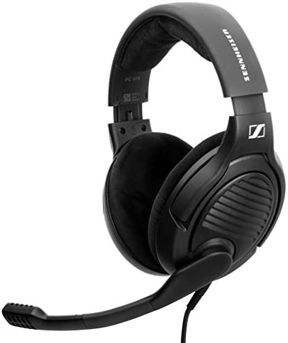 Massdrop x Sennheiser PC37X Gaming Headset — Noise-Cancelling Microphone with Over-Ear Open-Back Design, 10 toes Detachable Cable, and Velour Earpads,Black