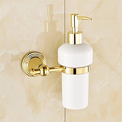 LAONA Euro-copper gold Bathroom Wall is a built-in shelf toilet paper holder Toilet brush, Soap Dispenser