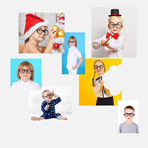 Kids Childrens Wizard Nerd Round Black Frame Glasses, Clear Lens (Age 4-12) - http://coolthings.us