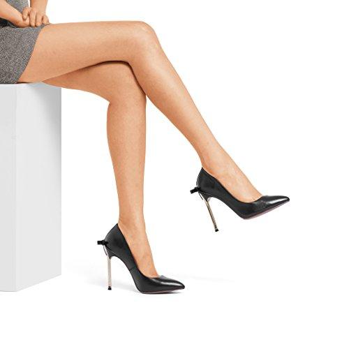 Femmes à Rainbow Talons Hauts Noir 3cm 38 Chaussures Couleur Spiky 2018 Nouveau Hauts Talons taille Bow Sandales 10 Pompes à Noir fwApnFq7d